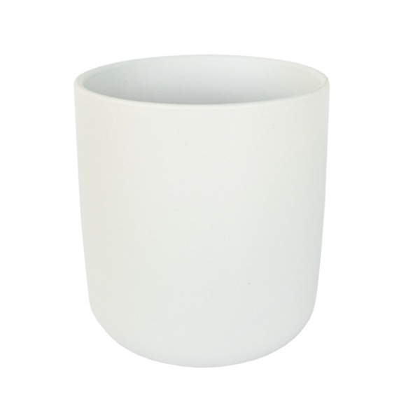 HYGGE NORDIC CERAMIC ROUNDED BASE CANDLE JAR
